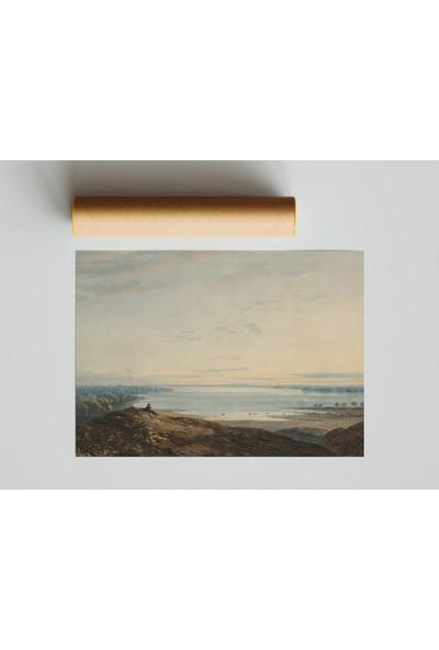 Termofom Pastel Dağ Manzaralı Poster (70X100)