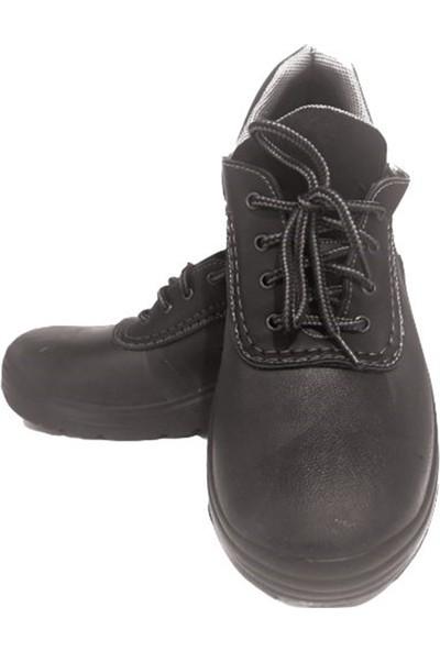 Palalı Çelik Burun Işçi Deri Ayakkabısı Siyah 41 No