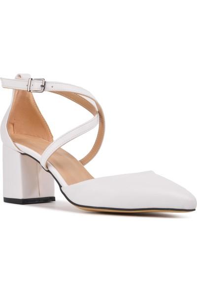 Park Moda K720 Beyaz Kadın Topuklu Ayakkabı