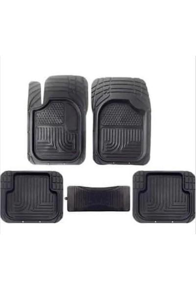 Burç Havuzlu Paspas 3D Siyah 5 Parça Üniversal Tüm Araçlar Için Uyumlu