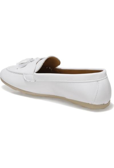 Miss F DS21007 1fx Beyaz Kadın Loafer Ayakkabı