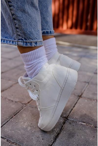 Shoemark Golf Beyaz Kadın Sneaker