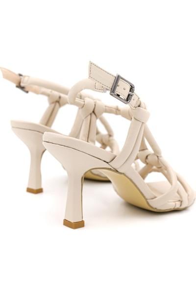 Shoemark Iddo Bej Kadın Topuklu Sandalet