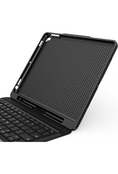 Wiwu Apple iPad Air 10.9 2020 Keyboard Folio Kablosuz Klavyeli Kılıf Siyah