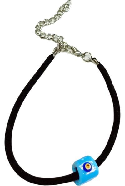 X-lady Accessories Cam Göz Kadife Bileklik