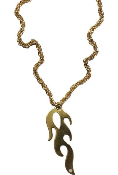 X-lady Accessories Alev Kolye Burgu Zincirli Altın Kaplama Kolye