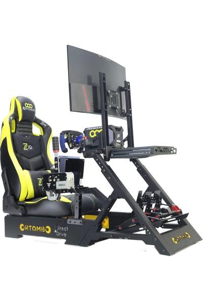 Ortombo Dd Zio Yarış Simulatörü Kokpit Direksiyon Standı