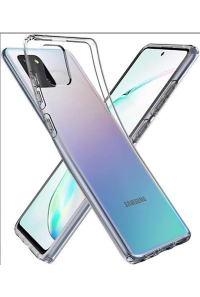 Vinn Mood Samsung Galaxy A81 (Note 10 Lite) Kılıf Antishock Silikon Köşeli Şeffaf Airbag Arka Kapak