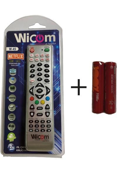 Wicom W-45 8 In 1 Akıllı Kumanda + Pil