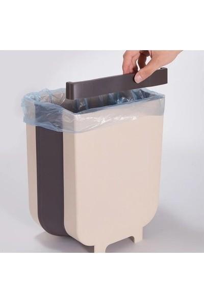 Pazarika Askılı Portatif Katlanabilir Çöp Kovası