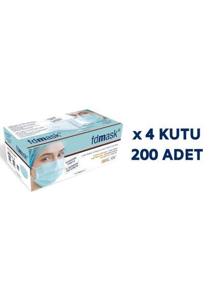 Fdmask Meltblown Cerrahi Maske 3 Katlı Full Ultrasonik Sertifikalı Telli (200 Adet)
