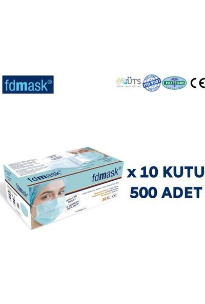Fdmask Meltblown Cerrahi Maske 3 Katlı Full Ultrasonik Sertifikalı Telli (500 Adet)
