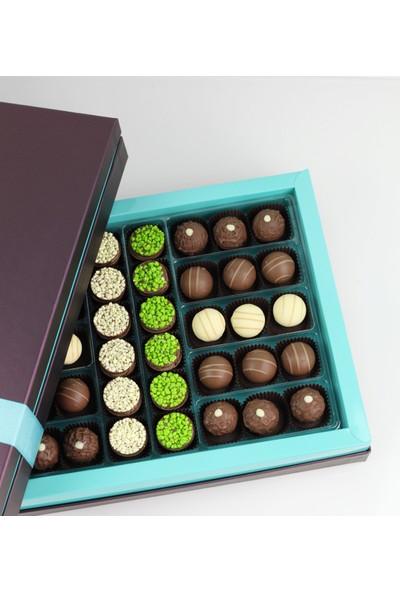 Nuga Turkuaz Kutu Truf Çikolata