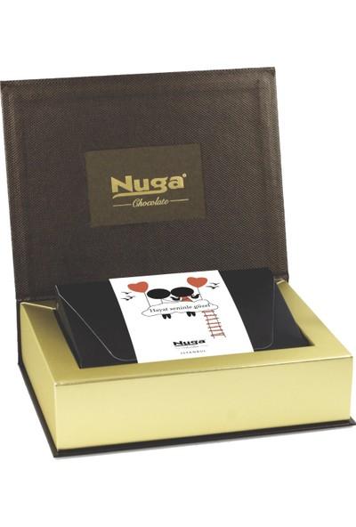 Nuga Hayat Seninle Güzel Kuşaklı Kalpli Kutu Çikolata