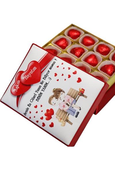 Nuga Sevgiliye Kutu Çikolata