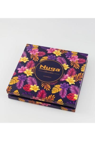 Nuga Viola Çiçek Desenli Kutu Special Çikolata