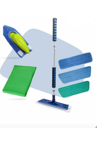 Silva N 1 Avantaj Temizlik Seti (Mikrofiber Mop Üçlü Set-Mikrofiber Çok Amaçlı El Mopu-Mikrofiber Cam Bezi)