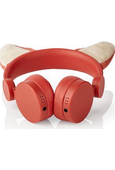 Nedis Franky Fox Turuncu Çıkarılabilir Aksesuarlı Kulak Üstü Çocuk Kulaklığı