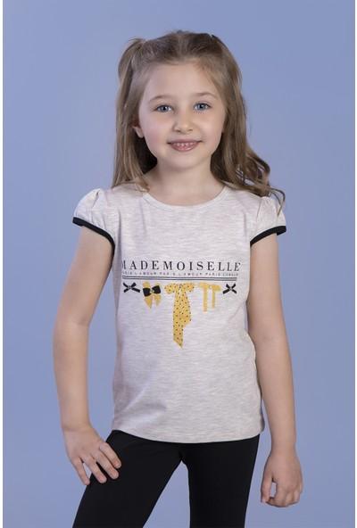 Toontoy Kız Çocuk Sim Baskılı Yarım Kollu T-Shirt