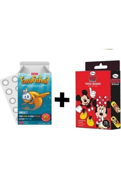 Easyvit Easyfishoil Omega 3 ve Mickey Mouse Yarabandı 2'li Paket
