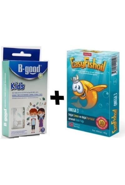 Easyvit Easy Balık Yağı Kids Omega 3 Tableti ve B-Good Çocuk Maskesi