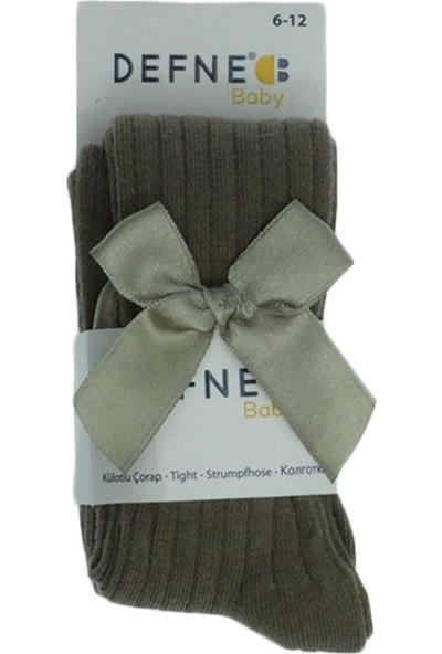Defne Baby Kız Bebek Fiyonklu Külotlu Çorap 6-12 Ay
