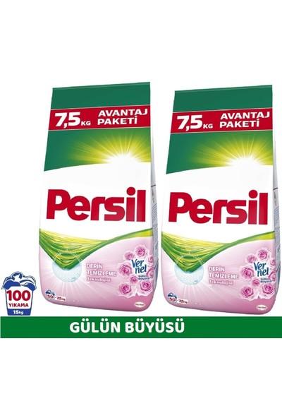 Persil Matik Toz Çamaşır Deterjanı Gülün Büyüsü 2 Paket x 7,5 kg