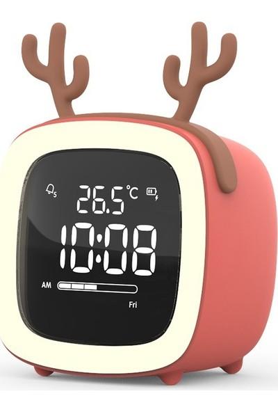 Swf Karikatür LED Elektronik Saat USB Şarj Çok İşlevli Saat (Yurt Dışından)
