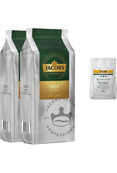 Jacobs Instand Gold Kahve 500 gr x 2 + 1 kg Krema