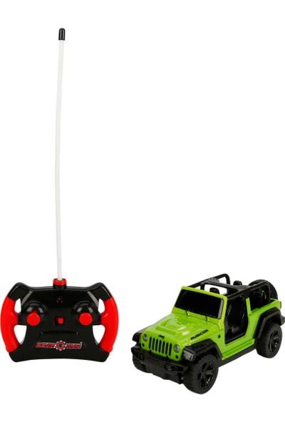 Kidztech 1:26 Uzaktan Kumandalı Işıklı Wrangeler Rubicon Jeep 18 Cm. Yeşil