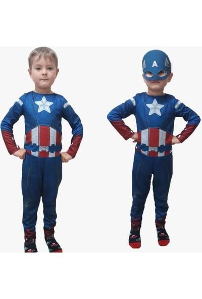 Masho Trend Captain Amerika Kostümü - Kaptan Amerika Kostümü - Captain Amerika Çocuk Kostümü