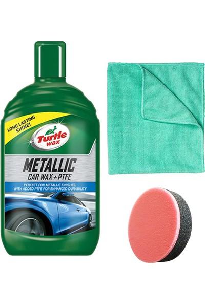 Turtle Wax Metalik Ptfe Katkılı Teflon Sıvı Cila 500 ml + Mikrofiber Bez + Cila Süngeri