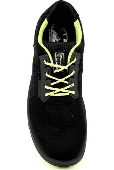 Rockwell Kompozit Burun Iş Ayakkabısı Siyah Neon Büyük Numara 45