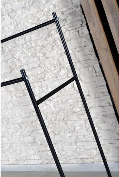 Larem Mobilya Konfeksiyon Askısı Metal Elbise Askılığı Çift Bölmeli Ayaklı Askılık