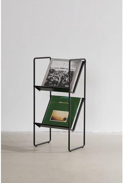 Metal Kitaplık Dergilik Iki Katlı Dergi Kitap Tutucu Düzenleyici Modelleri