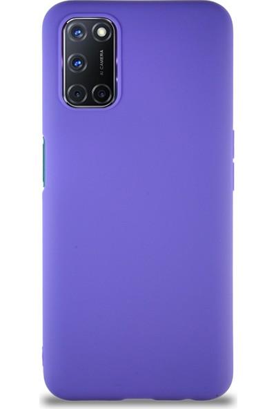 Dearcover Oppo A72 Kılıf Soft Premier Renkli Silikon Kapak - Mor