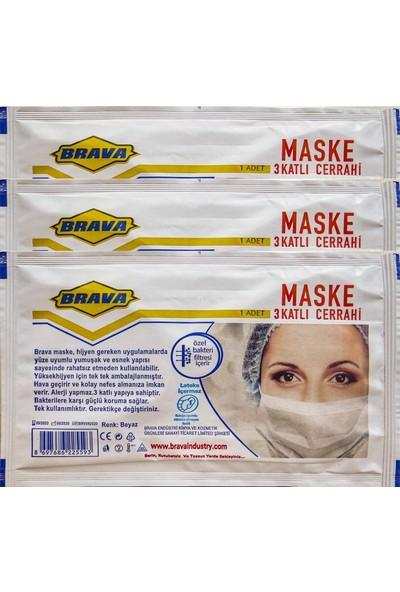 Brava Beyaz Filtresiz Maske 50 Adet
