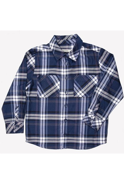 Ozmoz Erkek Çocuk Mavi Oduncu Gömlek
