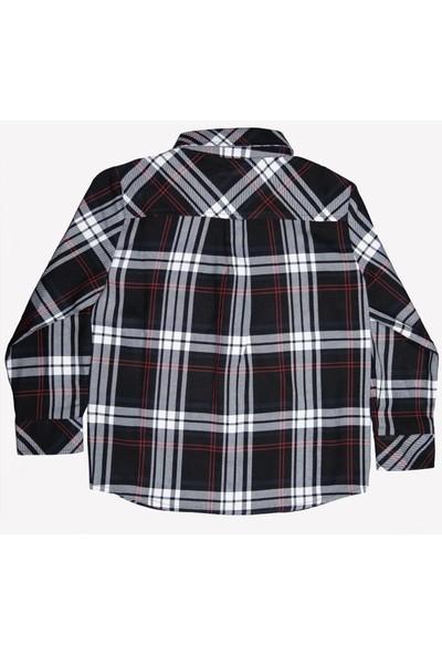 Ozmoz Erkek Çocuk Siyah Oduncu Gömlek