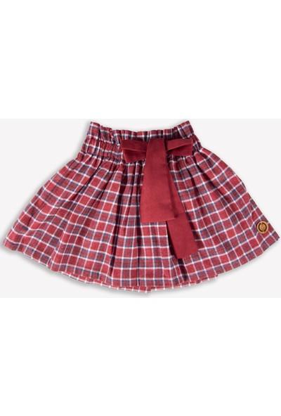 Ozmoz Kırmızı Ekose Kışlık Kız Çocuk Etek
