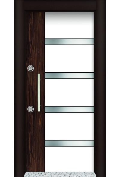 Mono Çelik Kapı MN-1706 Lux Laminant Abanoz Ceviz Çelik Kapı