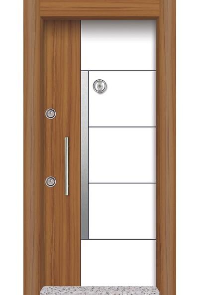 Mono Çelik Kapı MN-1705 Lux Laminant Meşe Rengi Boyalı Kasa Çelik Kapı