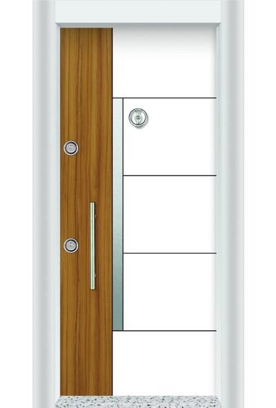Mono Çelik Kapı MN-1705 Lux Laminant Beyaz Çelik Kapı
