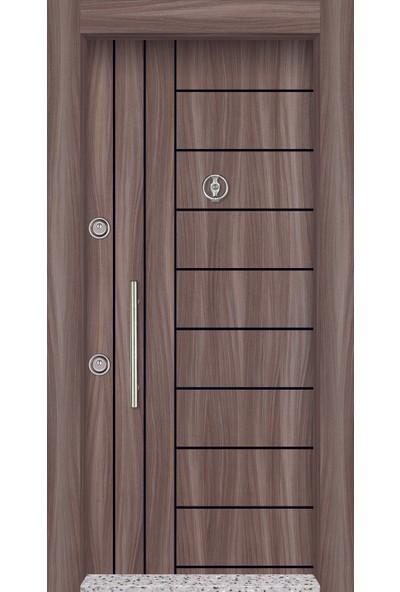 Mono Çelik Kapı MN-1806 Classic Laminoks Sütlü Kahve Çelik Kapı