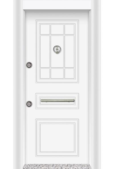 Mono Çelik Kapı MN-1833 Classic Lake Beyaz Çelik Kapı
