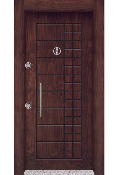 Mono Çelik Kapı MN-1801 Classic Rustik Ceviz Çelik Kapı