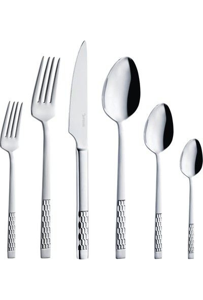 Şehzade 72 Parça Petek Çatal Kaşık Bıçak Seti