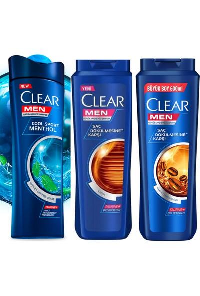 Clear Men 3lü Özel Şampuan Serisi 600 ml x 3