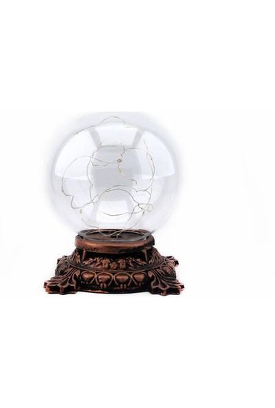 Burdan Eve Işıklı Küre Masa ve Gece Lambası