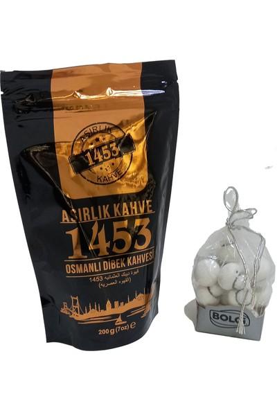 Asırlık Kahve 1453 Dibek Kahvesi 200 gr + Bolçi Mini Beyaz Mantar Çikolata 158 gr